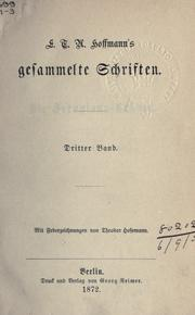 Gesammelte Schriften by E. T. A. Hoffmann