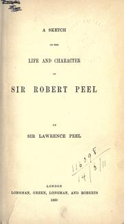 A sketch of the life and character of Sir Robert Peel PDF