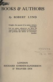 Books and authors by Lynd, Robert