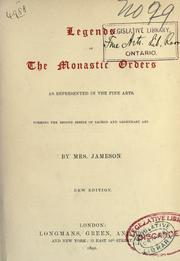 Legends of the monastic orders as represented in the fine arts by Jameson Mrs.