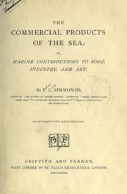 The commercial products of the sea by P. L. Simmonds