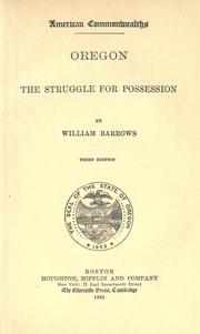 Oregon by W. Barrows