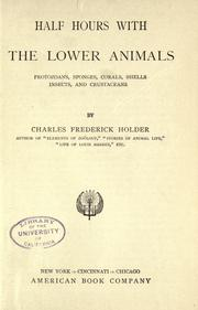 Half hours with the lower animals PDF