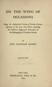 On the wing of occasions by Joel Chandler Harris