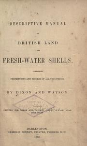 A descriptive manual of British land and fresh water shells PDF