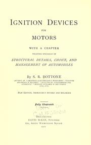 Ignition devices for motors .. by Selimo Romeo Bottone