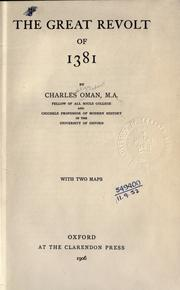 The great revolt of 1381 by Charles William Chadwick Oman