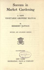 Success in market gardening PDF