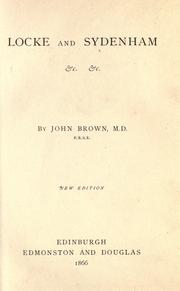 Locke and Sydenham by Brown, John