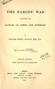 The barons' war by William Henry Blaauw