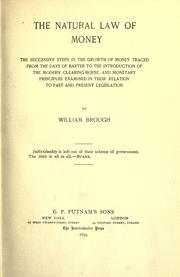 The natural law of money by Brough, William
