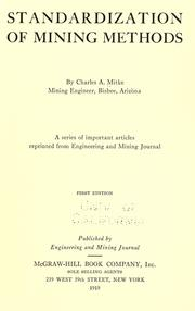 Standardization of mining methods PDF