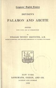 Cover of: Dryden's Palamon and Arcite by John Dryden