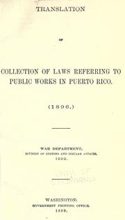 Laws, etc by Puerto Rico.