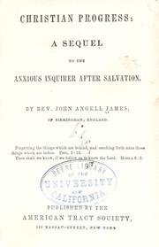 Christian progress by John Angell James