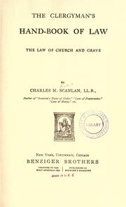 The law of church and grave by Charles Martin Scanlan