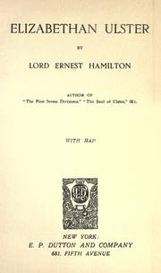 Elizabethan Ulster by Hamilton, Ernest Lord