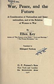 War, peace, and the future by Ellen Key