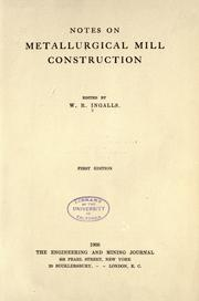Notes on metallurgical mill construction PDF
