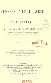 Conversion of the West by G. F. Maclear