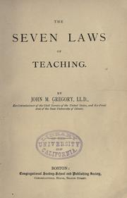 The seven laws of teaching PDF