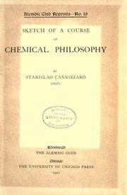 Sketch of a course of chemical philosophy by Stanislao Cannizzaro