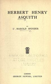 Herbert Henry Asquith by Harold Spender