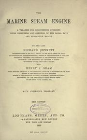 The marine steam engine by Sennett, Richard