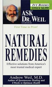Cover of: Natural remedies by Andrew Weil