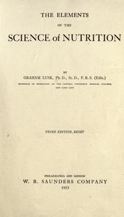 The elements of the science of nutrition by Lusk, Graham