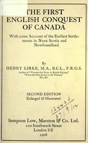 The first English conquest of Canada by Henry Kirke