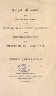 Sidereal chromatics by W. H. Smyth