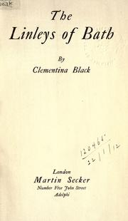 The Linleys of Bath by Clementina Black