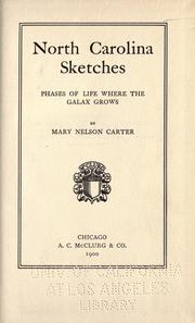 North Carolina sketches PDF