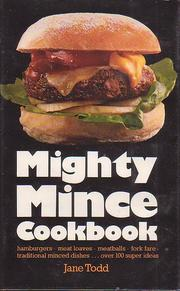 Mighty mince cookbook by Jane Todd