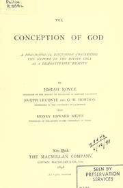 The Conception Of God by Josiah Royce