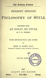 Philosophy of style by Herbert Spencer