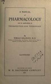 A manual of pharmacology and its applications to therapeutics and toxicology.