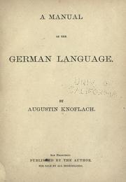 A manual of the German language PDF