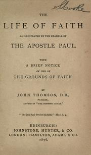 The life of faith as illustrated by the example of the Apostle Paul PDF