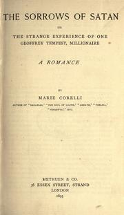 The sorrows of Satan by Marie Corelli