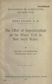 The effect of superphosphate on the wheat yield in New South Wales PDF