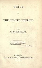 Birds of the Humber District by John Cordeaux