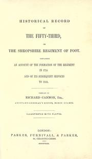 Historical record of the Fifty-Third, or the Shropshire Regiment of Foot PDF