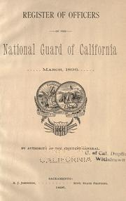 Cover of: Register of officers of the National Guard of California by California. Adjutant General's Office.
