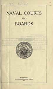 Naval courts and boards by United States. Navy Dept.