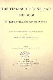 The finding of Wineland the good by Arthur Middleton Reeves