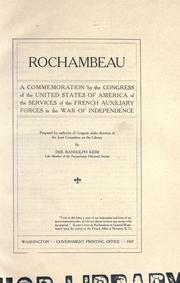 Rochambeau by United States. Congress. Joint Committee on the Library