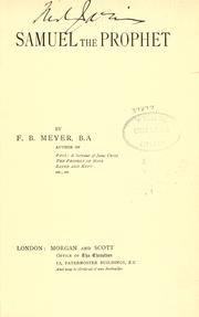 Samuel the prophet by Meyer, F. B.