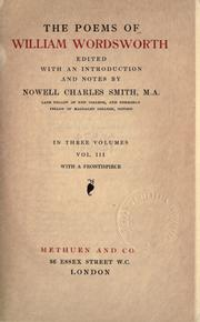 Cover of: The poems by William Wordsworth